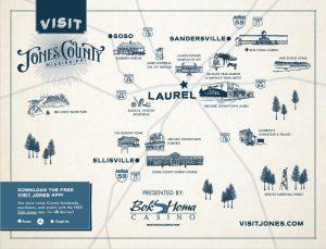 Jones County and Laurel MS Map